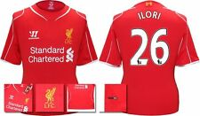 *14 / 15 - WARRIOR ; LIVERPOOL HOME SHIRT SS / ILORI 26 = KIDS SIZE*