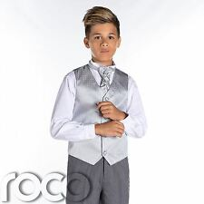 Boys Silver & Grey Suit, Page Boy Suits, Boys Wedding Suits, Boys Suits, Diamond