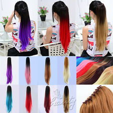 """20"""" Ombre Dip Dyed Party Claw Clip In Ponytail Extensions 8 Colors Available New"""