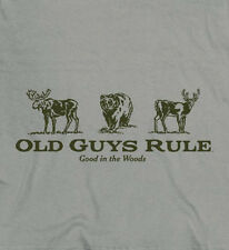 OLD GUYS RULE GOOD IN THE WOODS HUNTING TEE SHIRT
