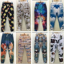 New Men Women 3D EMOJI Emoticon Print Fun Sport Jogger Sweat Pants Trousers S-XL
