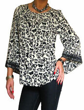 New Blouse Shirt Tops Long Sleeve Loose Womens Black Top Size 10 12 14 16 18 20