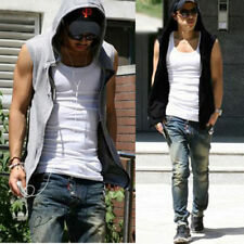 FASHION Mens Casual Hoodie Jacket Coat Sleeveless Tank Top Vest Sweatshirt