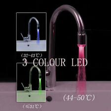 Novel Temperature Sensor LED Light Water Faucet Tap 3 Color RGB Glow Shower NEW