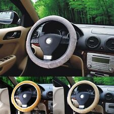 Plush Steering Wheel Cover Car Accessories Stretch Elastic Soft Faux Wool Cover