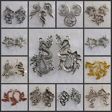 Na0020-Na2879 Wholesale Tibetan Silver/Copper-Dark gold-tone Dragon charms