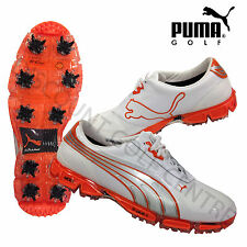 Puma Golf AMP Cell Fusion Shoes White/Orange All sizes Regular Fit