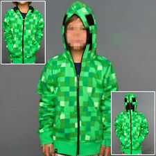 New Minecraft Game Youth Zip Up Hoodie Coat Game Boys Creeper JJ Pattern Gift