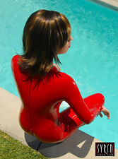 Syren Latex RED CatSuit - Handtailored in USA - Retails $410.00 XS, M, L, XL