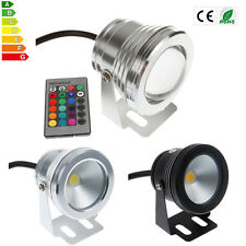 IP68 10W LED RGB White Underwater Light Fountain Pond Outdoor Spotlight Lamp 12V