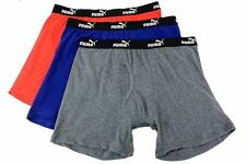Puma Men's 3-PK Premium Moisture Wicking Navy Assorted Boxer Brief Underwear