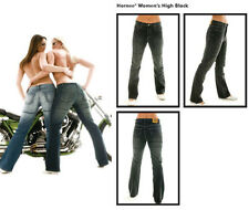HORNEE SA-W2 LADIES KEVLAR MOTORCYCLE BLACK JEANS PANTS + KNEE ARMOUR - SALE