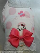 DOG CAT FERRET Travel Harness~Peek a Boo HELLO KITTY Butterfly Pink BOW & LACE