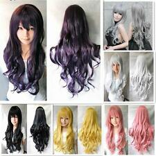 Hair Ladies Wig Long Wavy Curly Fancy Dress Party Full Cosplay Fashion