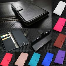 Luxury Glossy Leather Flip Wallet Stand Case Cover For Sony Xperia