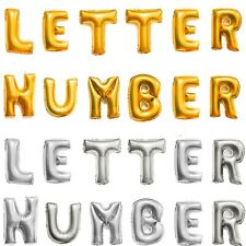 Silver/Gold Letter&Number Foil Balloons Birthday Celebration Party Decor 14-16""