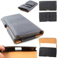 Tan Horizontal PU Leather Belt Clip Case Pouch Holster for Various Cell Phones