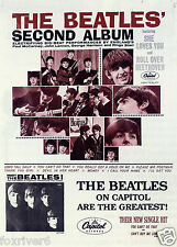THE BEATLES US Album Window Poster - The Second Album on Capitol 1964
