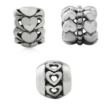 925 Sterling Silver HEART European Charm Bead