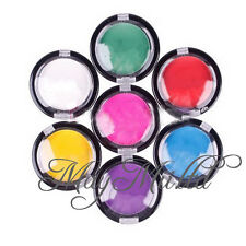 6 Colors Temporary Hair Color Chalk Compact Pressed Powder For Hair Rub CA