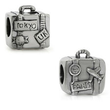 925 Sterling Silver Luggage/Bag European Charm Bead