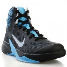 Nike Zoom Hyperfuse 2013 Mens Size Basketball Shoes Black Blue Grey 615896 007