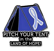 Periwinkle Cancer Awareness Ribbon Pin Pitch Tent Land Hope Camping Inspire New