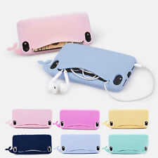 """Cute Big Mouth Whale Rubber Cartoon Wallet Case Cover For Apple iPhone 6 4.7"""""""