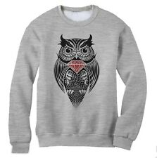 Diamond Owl Sweatshirt Wasted Dope Fresh Disobey Hipster Smoke Swag Crew Jumper