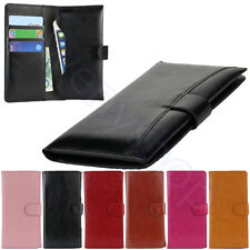 Wallet Leather Long Handbag Phone Case Purse for Galaxy S 3 iPhone 4 5 5S HTC