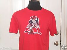 Brand New Mitchell& Ness Red New England Patriots NFL Distressed Style T-Shirt