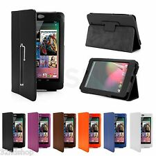 NEW Stand Book Case Cover for Google Nexus 7 + Screen Protector & Stylus