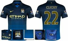 *14 / 15 - NIKE ; MAN CITY AWAY SHIRT SS + PATCHES / CLICHY 22 = SIZE*