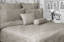LOUISE Linen Quilt / Duvet Cover Set + Eurocase + Cushion - SINGLE DOUBLE QUEEN