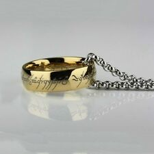Stainless Steel Titanium Lord of the Rings Hobbit Bilbo's Ring & Chain