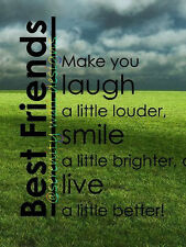 ~ BEST FRIENDS MAKE YOU LAUGH SMILE LIVE Vinyl Wall Decal Sticker Word Art NEW!