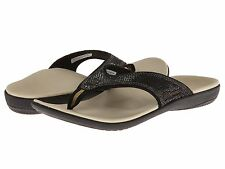 Spenco Sandal Total Support Thong Women Slide Black Flip Flop Medium (M, B)