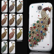 Luxury 3D Peacock Bling Diamond Hard Back Case Cover For Samsung Galaxy S4 I9500