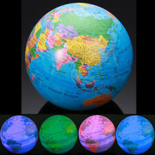 5.5'' Rotating Magic World Earth Globe With LED Lights Lamp Desktop Table Decor