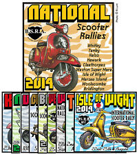 2014 NATIONAL SCOOTER RALLY PATCHES NOT PADDY SMITH LAMBRETTA VESPA SCOOTERBOY