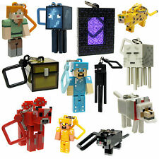"Minecraft 3D Series 2 Hangers 3"" Keychain/Keyring, Bag Clip - Choose Your Figure"