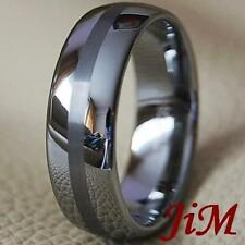 Mens Tungsten Ring Anniversary Wedding Band Bridal Womens Jewelry Size 6-15