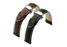 Croco Style Genuine Leather Watch Band Strap Clasp 18mm 20mm 22mm 24mm For SEIKO