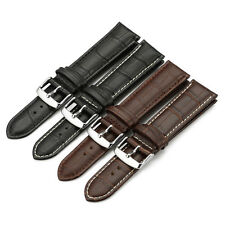 Croco Style Genuine Leather Strap Watch Band Buckle For WENGER SWISS ARMY