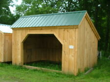 Run In Shed DIY - Choose Your Size!  Run In/Horse Shelter/Farm/Storage DIY PLANS