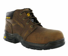 Mens CAT Caterpillar Conduit Leather Steel Toe Cap Safety Work Boots Size 6-12