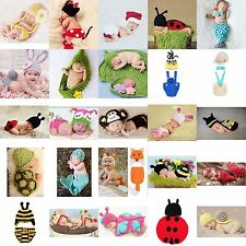 Infant Boy Girl Baby Newborn Crochet Costume Photography Prop Diaper Outfit Set
