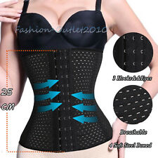 UK BLACK SLIMMING TUMMY SHAPEWEAR WAIST TRAINING BODY SHAPER CORSET BELT C24