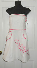 NWT LILLY PULITZER WHITE SPRING FLING EMBROIDERED BLOSSOM DRESS 2 8 10 $228
