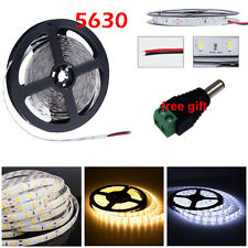 5M 10M 15M 5630 SMD LED Strip Light Flexible Xmas Party Lamp Warm Cool White +DC